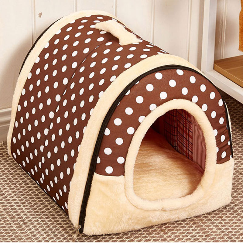 Pet's Collapsible Design Printed Warm Bed