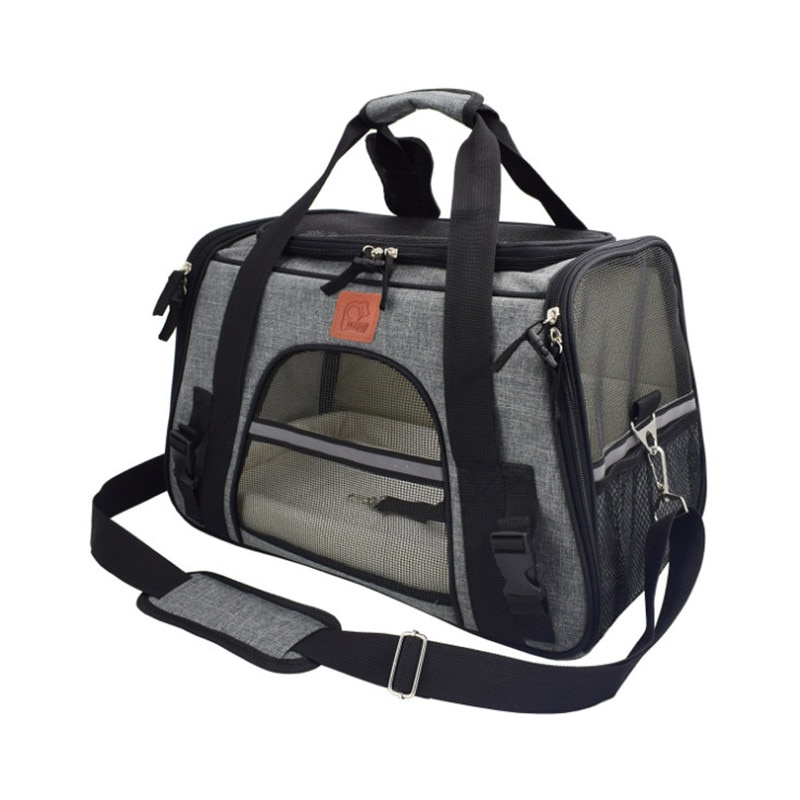 Carrier for Dogs Travel Cat Carrier Bag Breathable Car Seat Dog Carriers for Small Puppy Safety Reflective Portable Pet Handbag